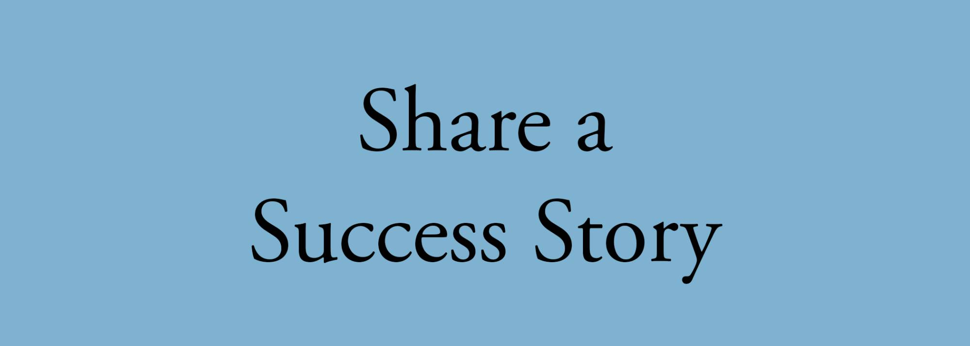 success story button